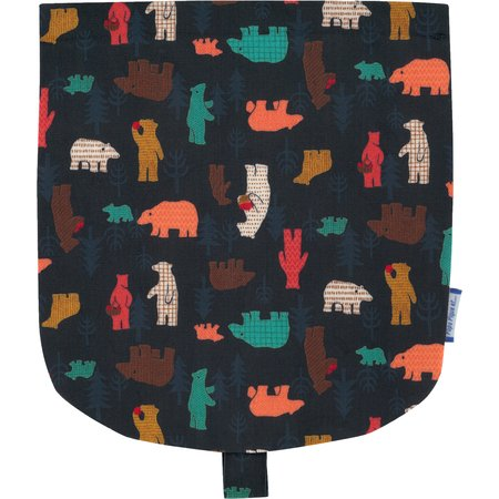 Flap of small shoulder bag grizzly