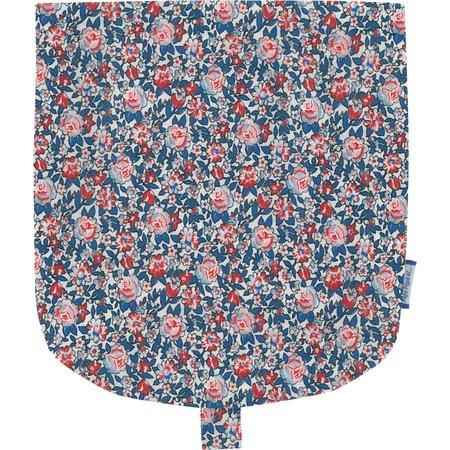 Flap of small shoulder bag flowered london