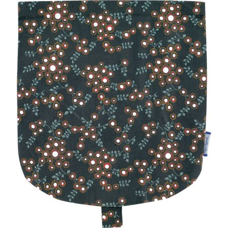 Flap of small shoulder bag fireflies