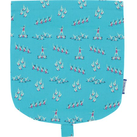 Flap of small shoulder bag swimmers