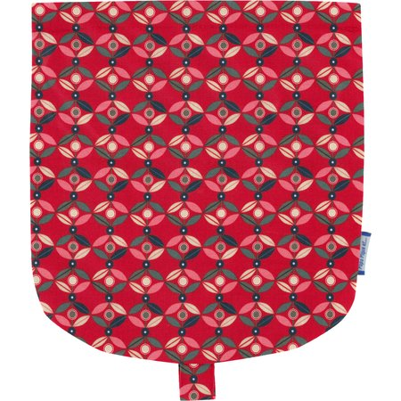 Flap of small shoulder bag paprika petal