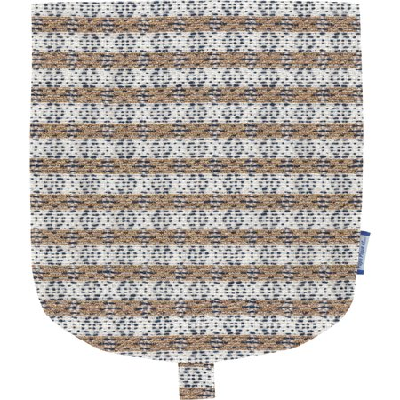 Rabat petite besace rayure bleu cuivré
