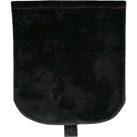 Rabat petite besace  velours noir