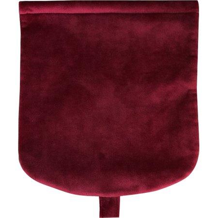 Rabat petite besace  velours rouge