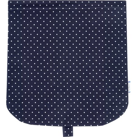 Flap of saddle bag navy blue spots