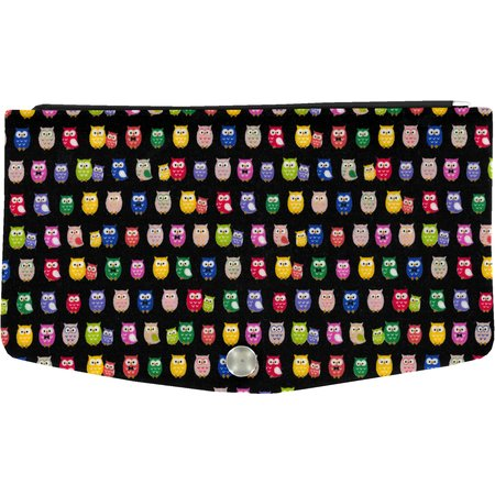 Flap of fashion wallet purse multicolored owl