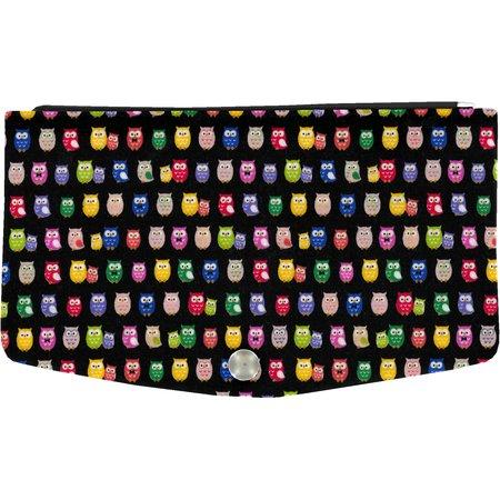 Tapa de billetera buho multicolor