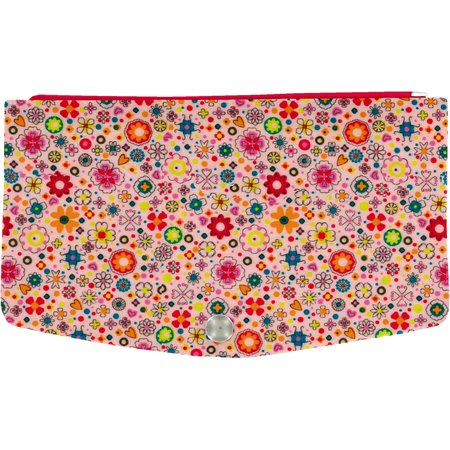 Flap of fashion wallet purse pink meadow