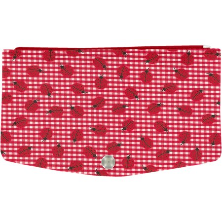 Flap of fashion wallet purse ladybird gingham