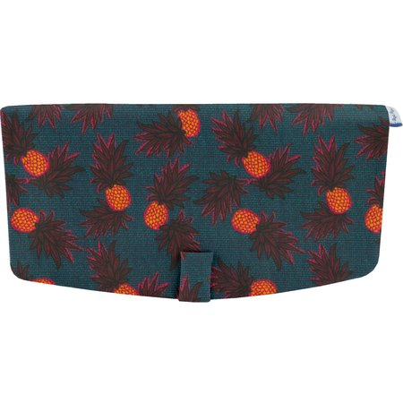 Flap of shoulder bag pineapple party