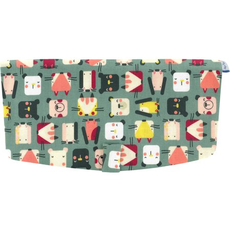 Flap of shoulder bag animals cube