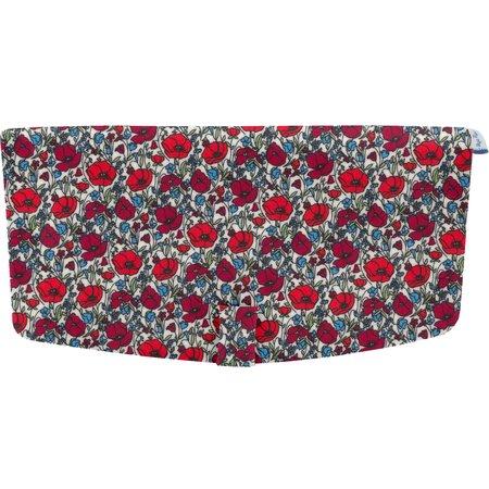 Flap of shoulder bag poppy