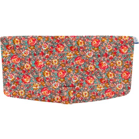 Flap of shoulder bag peach flower