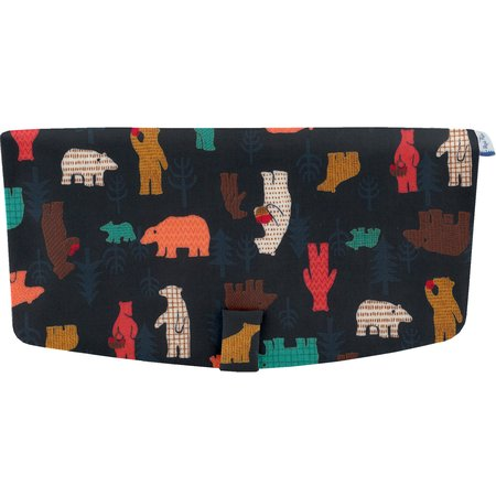 Flap of shoulder bag grizzly