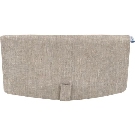 Flap of shoulder bag silver linen
