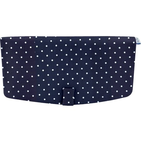 Flap of shoulder bag navy blue spots