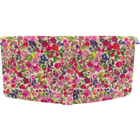 Flap of shoulder bag purple meadow