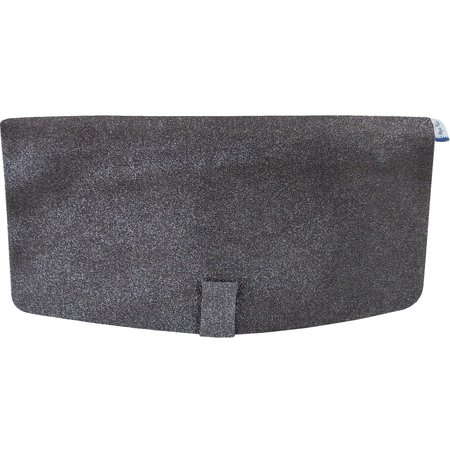 Flap of shoulder bag suédine noire