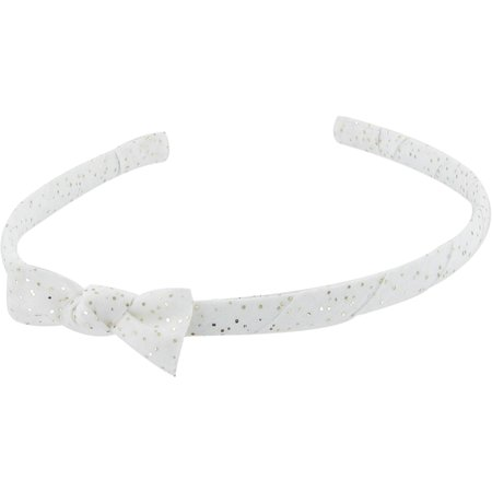 Thin headband white sequined
