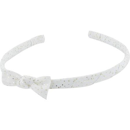 Diadema fina blanco lentejuelas