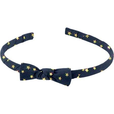 Thin headband navy gold star