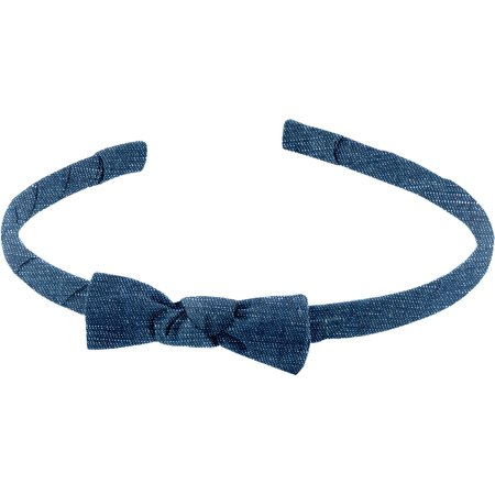 Thin headband light denim