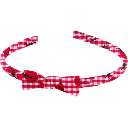 Thin headband ladybird gingham