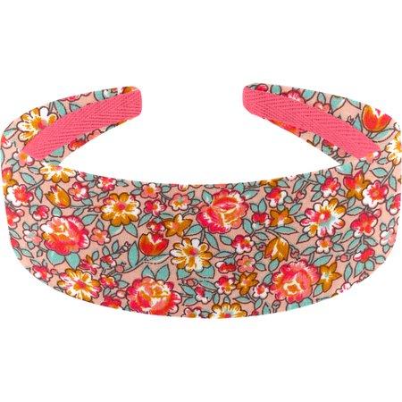Wide headband peach flower