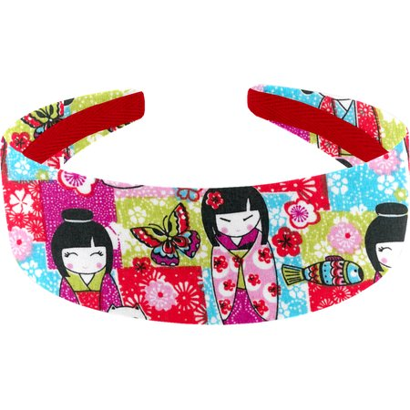 Wide headband kokeshis