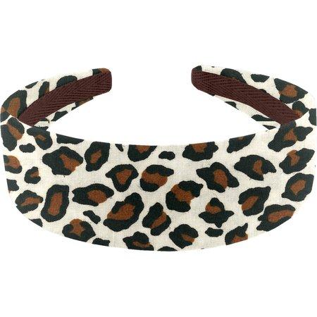 Wide headband leopard print