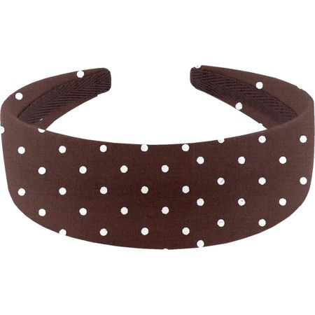 Wide headband brown spots