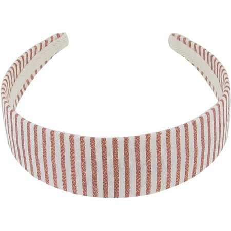 Wide headband copper stripe
