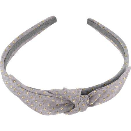 bow headband etoile or gris