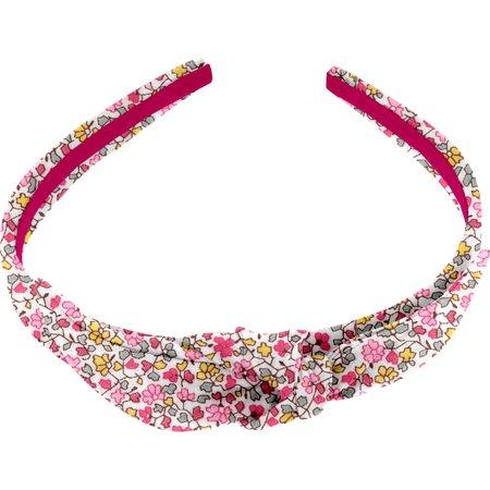 Serre-tête noeud jasmin rose