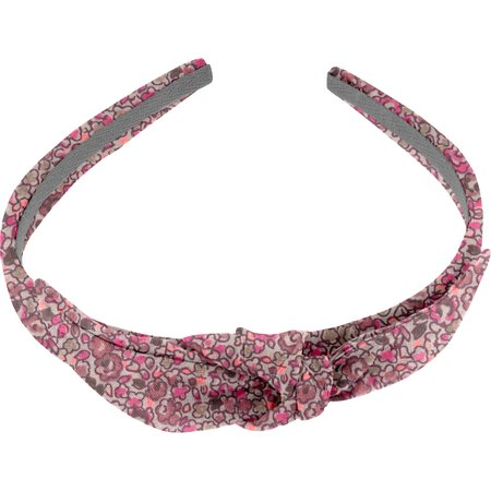 bow headband plum lichen