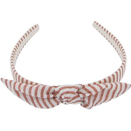 Serre-tête noeud rayures cuivrées