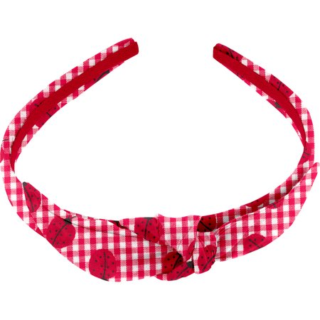 bow headband ladybird gingham