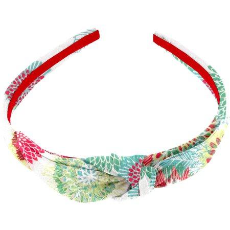 Serre-tête noeud dahlia poudré