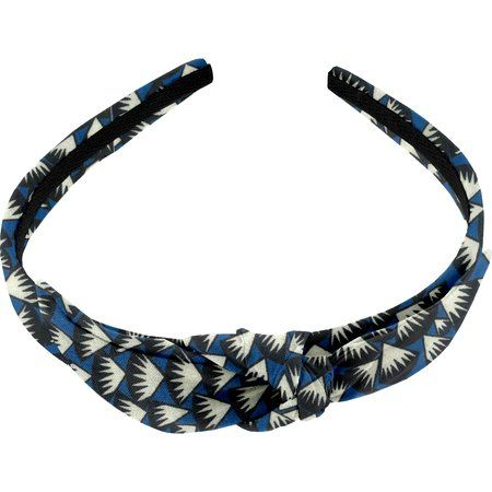 Serre-tête noeud  eclats bleu nuit