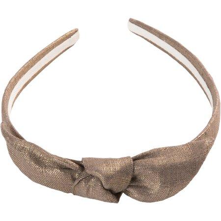 Serre-tête noeud lin or