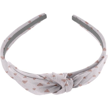 bow headband triangle cuivré gris