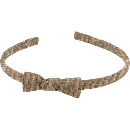 Thin headband gold linen