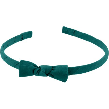 Thin headband emerald green