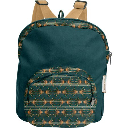 Petit sac à dos  eventail or vert