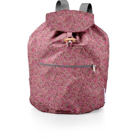 Petit sac à dos plastifié lichen prune rose