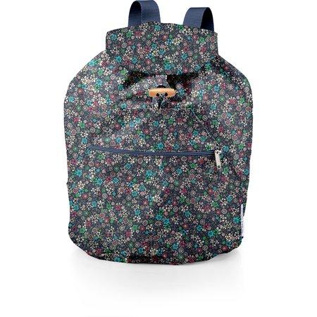 Petit sac à dos plastifié milli fleurs vert azur