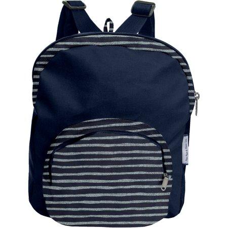 Children rucksack striped silver dark blue