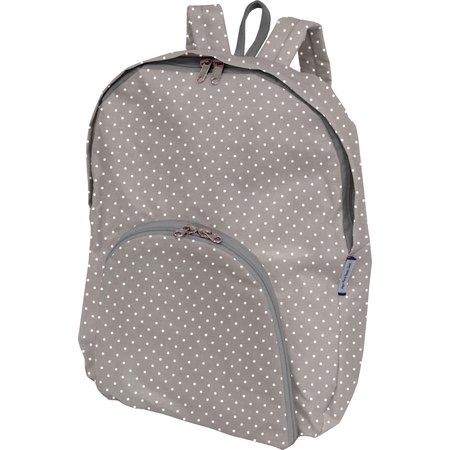 Foldable rucksack  light grey spots