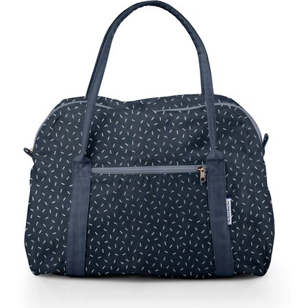 Bowling bag  silver straw jeans