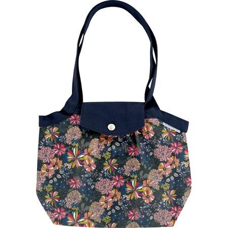 Petit sac cabas plissé dahlia rose marine
